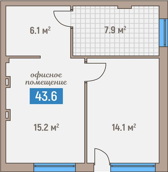 Коммерция-комнатная квартира ул. Горького, Светлогорск