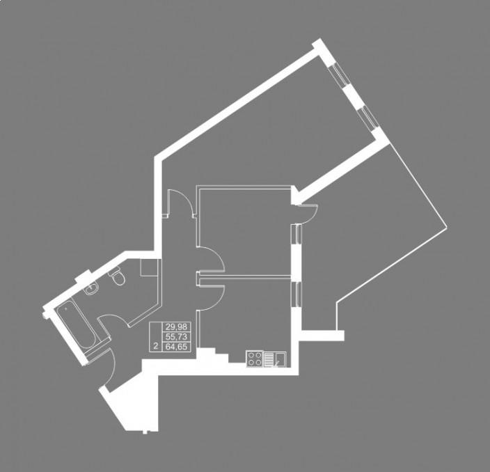 2-комнатная квартира ул. Чернышевского, Калининград