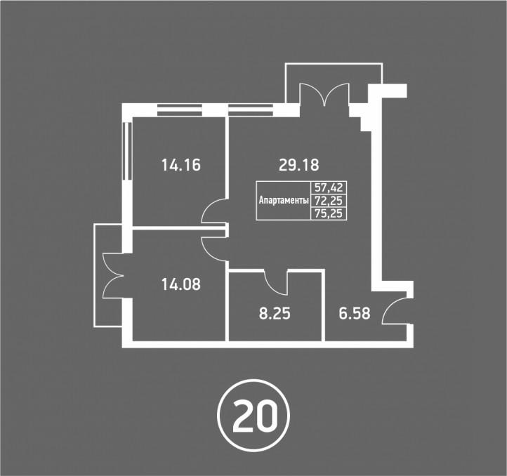 3-комнатная квартира ул. Ленина, Светлогорск