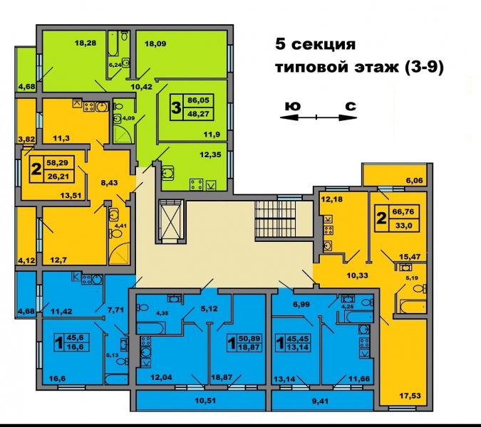 1-комнатная квартира Артиллерийская, Калининград