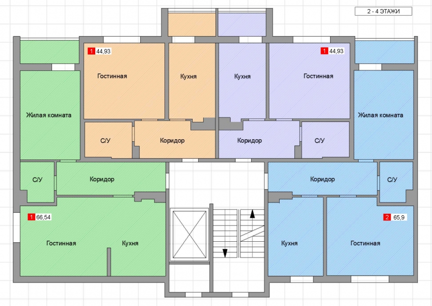 1-комнатная квартира Лужская, Калининград