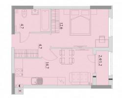 1-комнатная квартира пос. Большое Исаково, ул. Уютная