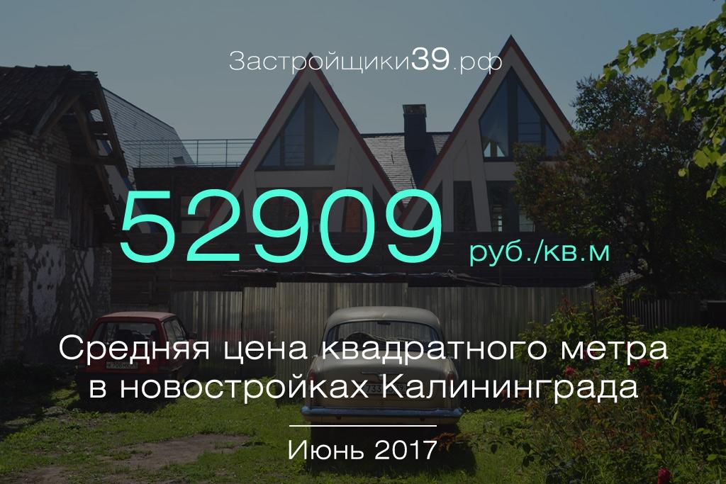 Июнь: сколько стоит квадратный метр в новостройках Калининграда и области