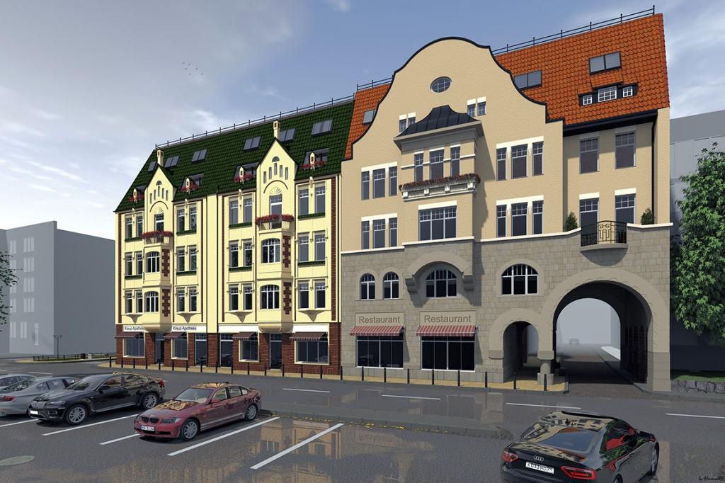 """Предложение архитекторов: знаменитая арка """"Кройц-аптеки"""" может стать входом в ресторан"""