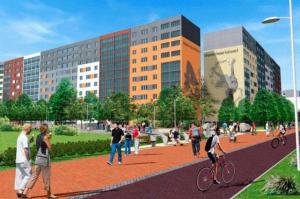 Реконструкция Солнечного бульвара: 200 новых деревьев и 300 кустов, парковка под эстакадой и яркие фасады