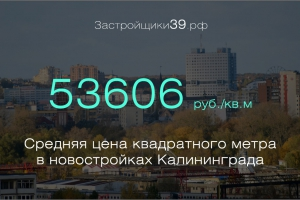 Февраль: сколько стоит квадратный метр в новостройках Калининградской области