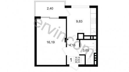 1-комнатная квартира ,